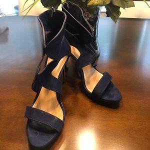 Schutz Navy Blue Sandals